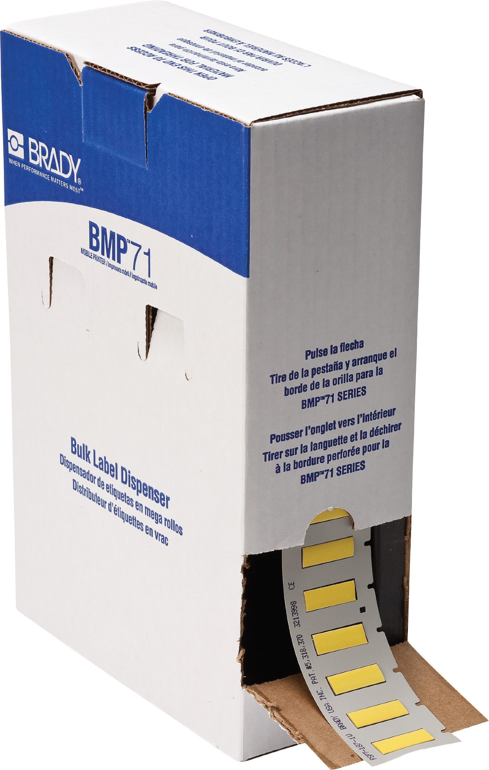 Brady BM71-187-1-342YL BMP71 PermaSleeve Wire Marker Sleeves, 0.335'' Height, 1.015'' Width,  (B-342) Yellow (Roll of 1000)