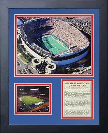 """429d73ce1 Image Unavailable. Image not available for. Color: Legends Never Die """"New  York Giants Stadium Aerial Framed Photo Collage, 11 x"""