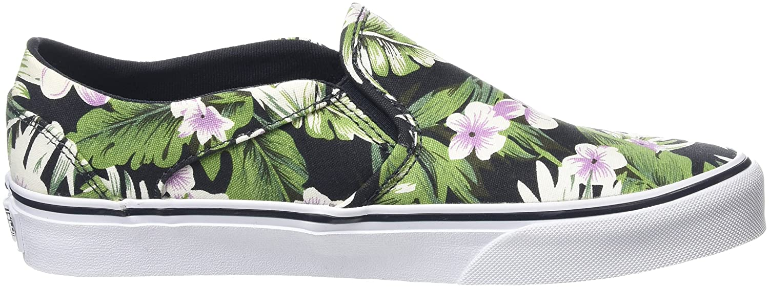 Vans Asher, Scarpe da Ginnastica Basse Donna, Multicolore (Tropical Flowers  Green), 35 EU: Amazon.it: Scarpe e borse