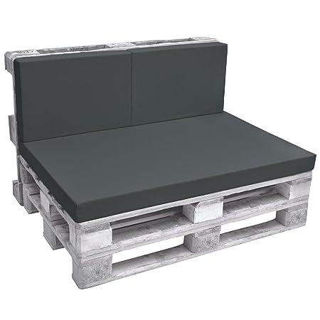 Beautissu 2 Cuscini per schienali di divanetti in Pallet - Eco Pure, 60x40x8cm cadauno - per divani con bancali - Grigio: Amazon.it: Casa e cucina