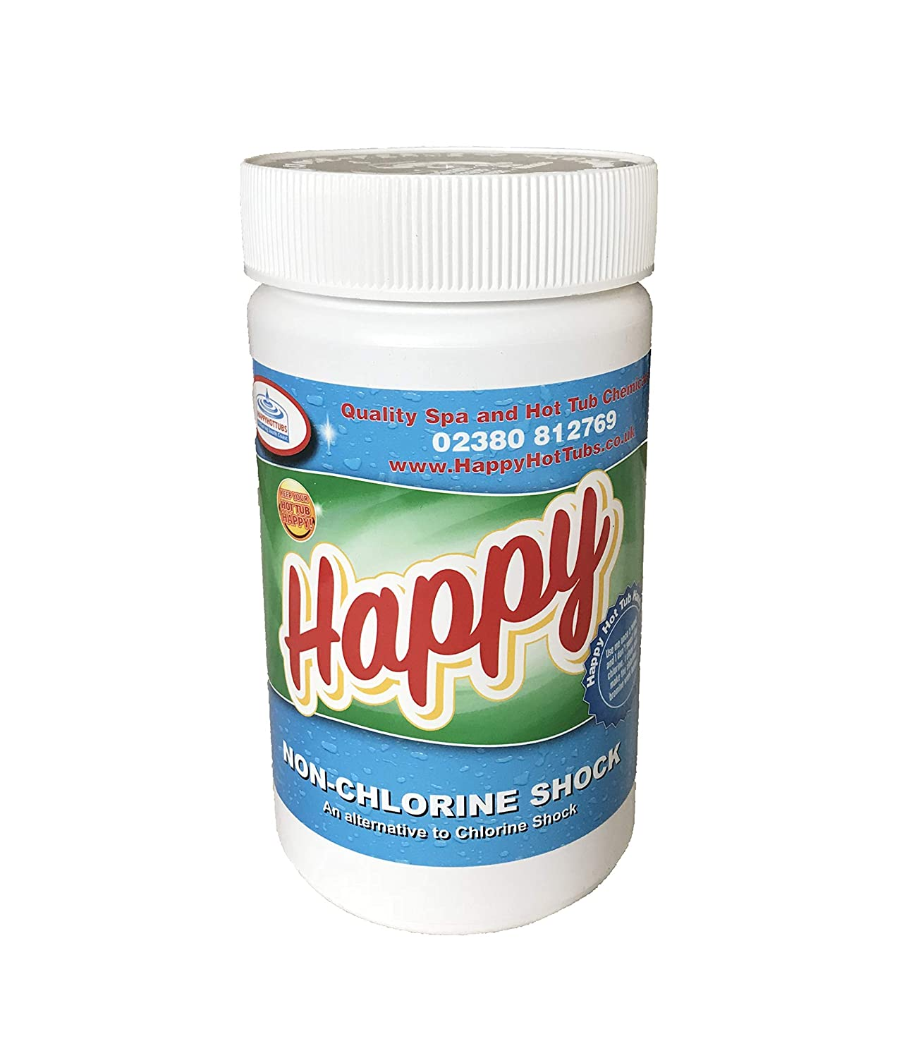 Happy Hot Tubs Quality Non Chlorine Shock 1kg Hot Tub Pool FOR CHLORINE AND BROMINE USERS