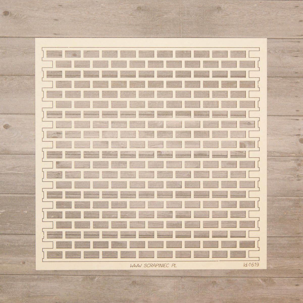 creARTive-corner Chipboard - Backsteingitter Scrapiniec