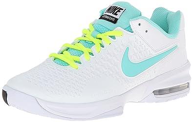 Nike Women's Air Max Cage White/Bleached Turq/Volt Tennis Shoe 5.5 Women US