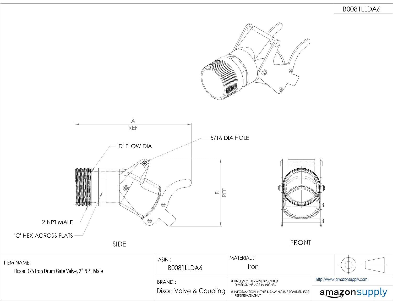 Dixon d75 iron drum gate valve 2 npt male industrial gate dixon d75 iron drum gate valve 2 npt male industrial gate valves amazon industrial scientific pooptronica Images