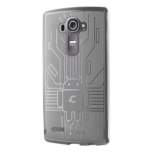 85 opinioni per Cruzerlite Custodia LG G4, Bugdroid Circuit Custodia Compatibile per LG G4, TPU,