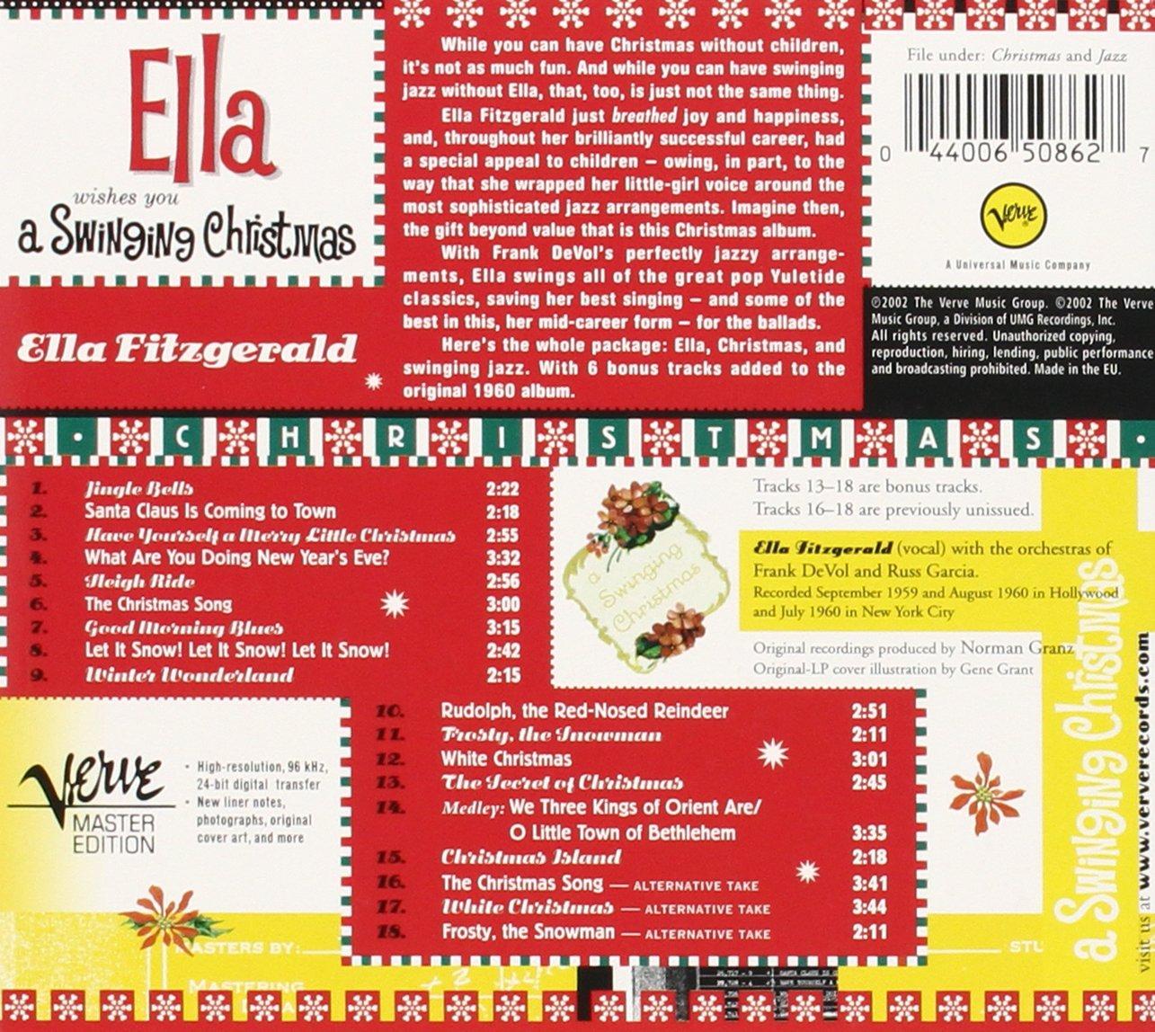 Ella Fitzgerald - Ella Wishes You a Swinging Christmas - Amazon ...
