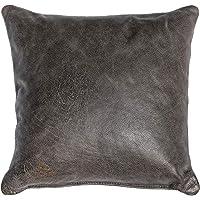 Centaur - Decoratieve leren kussens voor Sofa couch of Woonkamer 40 x 40cm Basalt Grijs - Echt leren kussens in diverse…