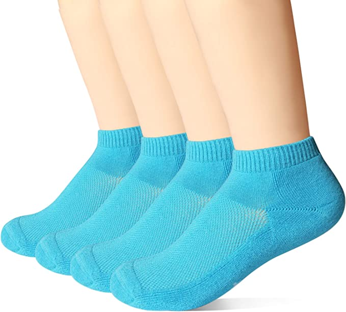 +MD Mens Colorful Antibacterial Soft Cushioned Bamboo Low-Cut Socks 4 Pack