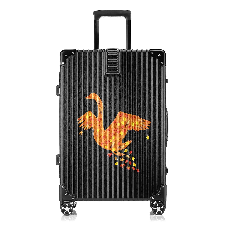GSHCJ スーツケース カッコイイ動物 白鳥 キャリーケース 20インチ おしゃれ ブラック Tsaロック搭載 プリント ハード 超軽量 軽い 機内持込 ロックファスナー 旅行 ビジネス 出張 海外 修学旅行 丈夫 便利 レディース メンズ 学生 B07RZ86PDH