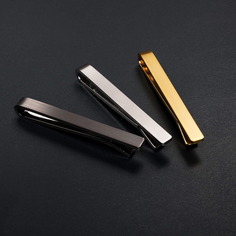 [タバラット] 凛 ネクタイピン 3本セット タイピン メンズ 日本製 シンプル クリップ式 リン青銅 サテーナ加工