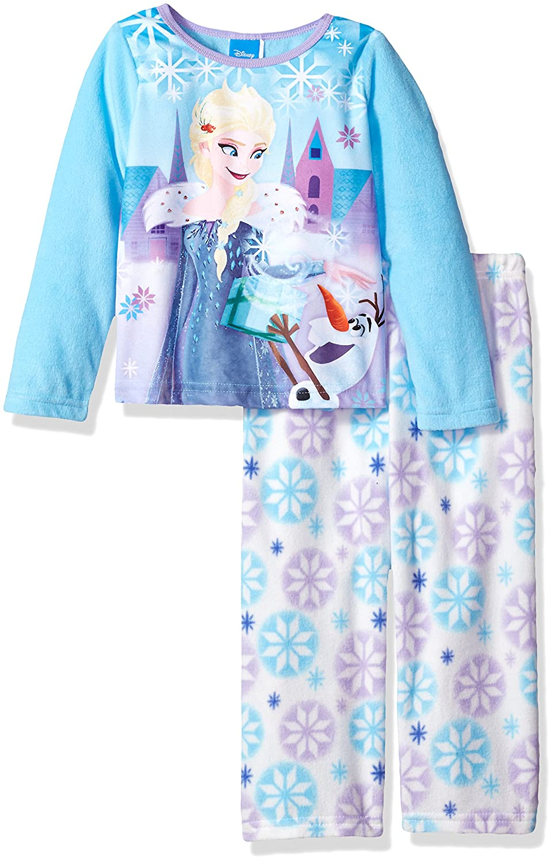 Disney Girls Frozen 2-Piece Fleece Pajama Set