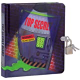 "MOLLYBEE KIDS Top Secret Glow in The Dark 6.25"" Lock and Key Diary for Boys and Girls, 208 Lined Pages"
