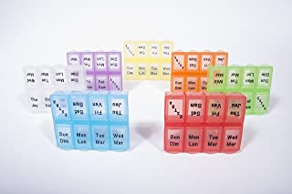 product image for 7 Day + 1 Extra Weekly Pill Box Pack of 12 (Clear)