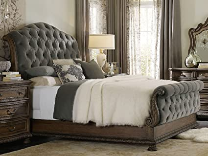 Amazon Com Hooker Furniture Rhapsody Tufted King Bed In Fog Gray