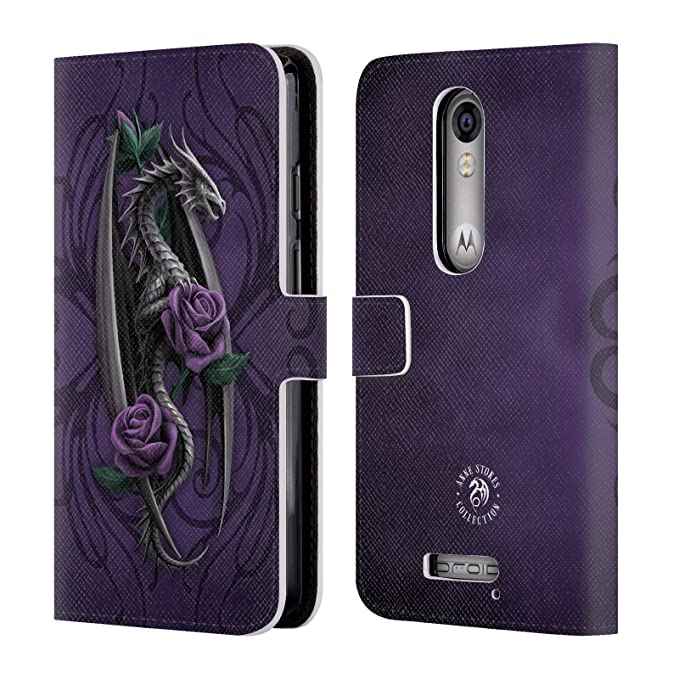 Official Anne Stokes Beauty 1 Dragons 3 Leather Book Wallet Case Cover For DROID Turbo 2