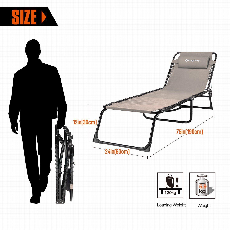 Amazon.com: KingCamp - Sofá cama de 3 posiciones reclinables ...