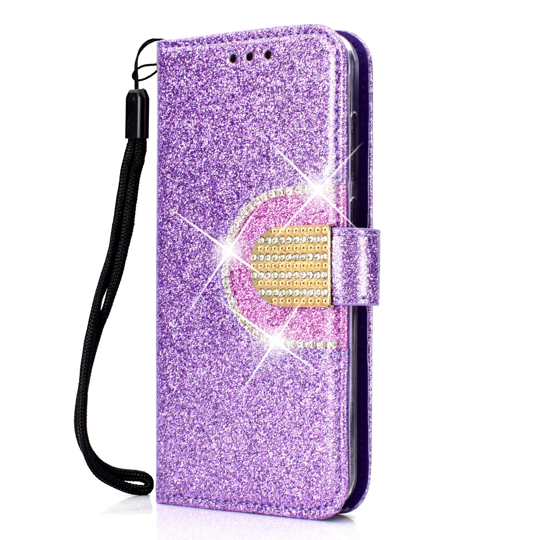 Handyh/ülle Tasche Leder Flip Case Brieftasche Etui mit Kartenfach Sto/ßfest Kratzfest Schutzh/ülle f/ür Huawei P Smart NEXCURIO Huawei P Smart 2019 H/ülle Leder 2019 - NEHHA090228 Violett