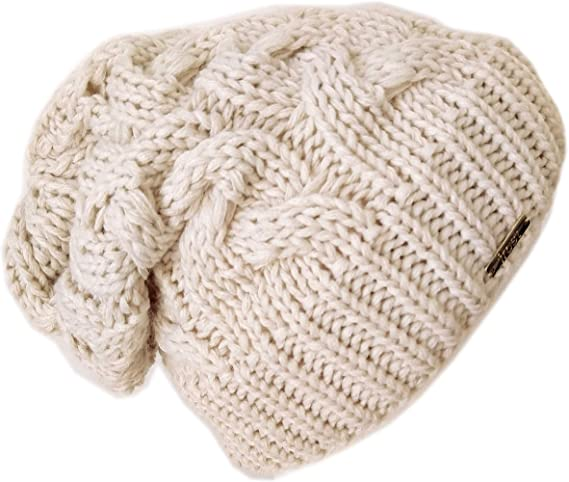 Pink and Brown Slouchy Roll Brim Beanie Winter Hat Women Slouchy Toque Slouchy Hat Hand Knitted Slouchy Beanie Soft Boucle Yarn