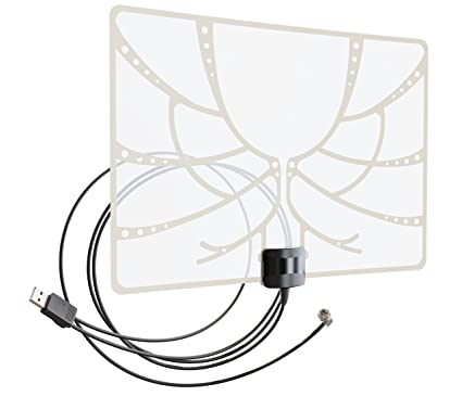 Amazon Com Antenna Tv Indoor Bas 5324 Usb Compact Amplified Ultra