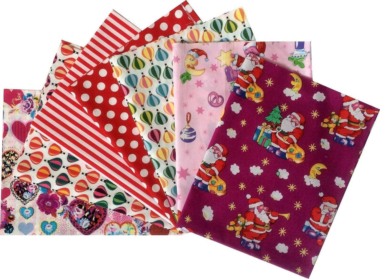 Elephant//Balloon Design 100/% Cotton Fat Quarter Bundle 5 Fabrics Craft//Quilting