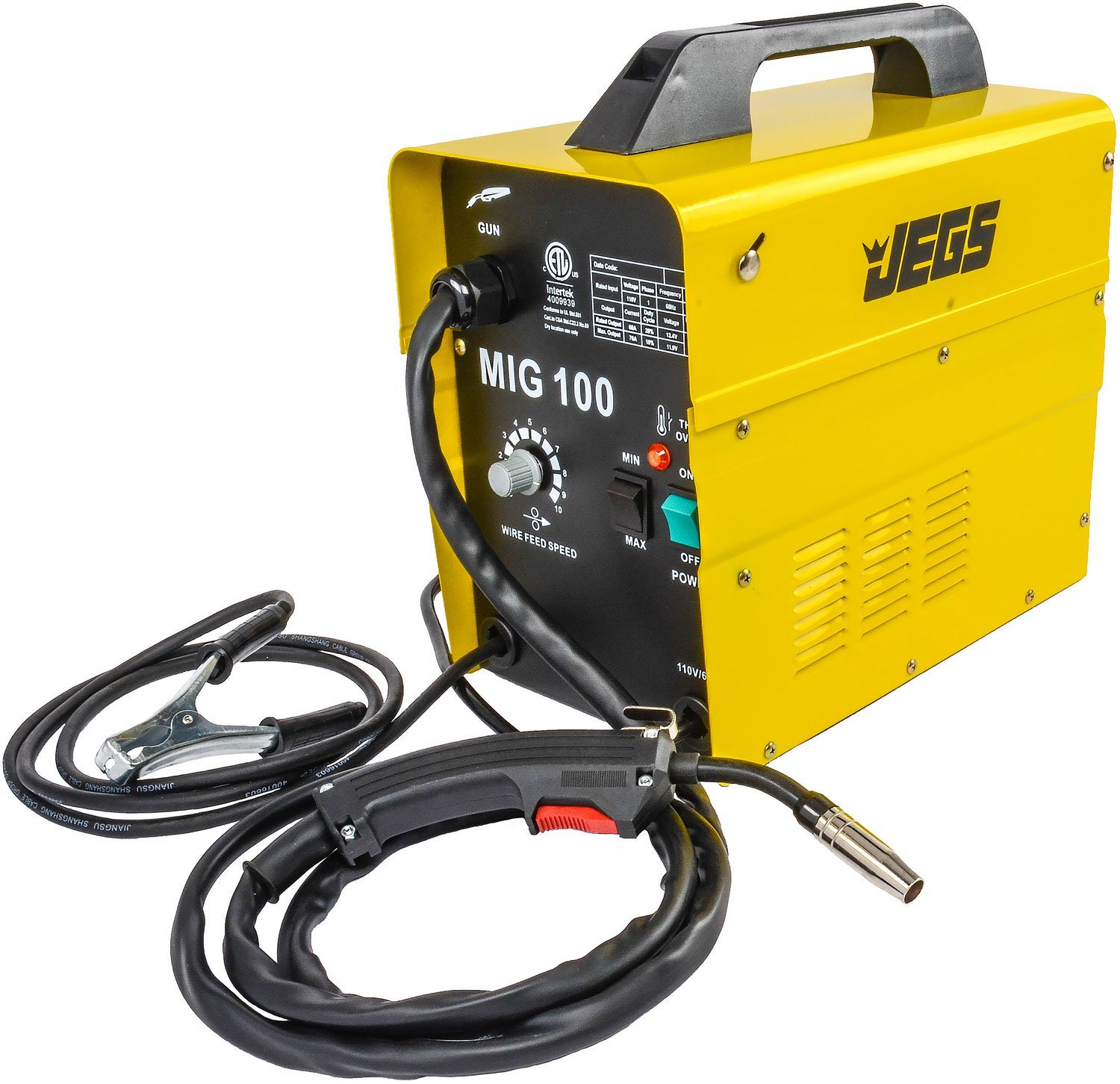 JEGS Performance Products 81540 MIG 100 Gasless Welder 110V AC by JEGS (Image #1)