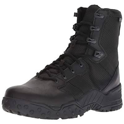 "Danner Men's Scorch Side-Zip 8"" Military and Tactical Boot, Black,: Shoes"