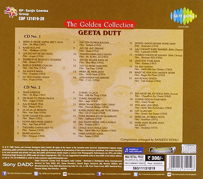 Golden Collection - Geeta Dutta