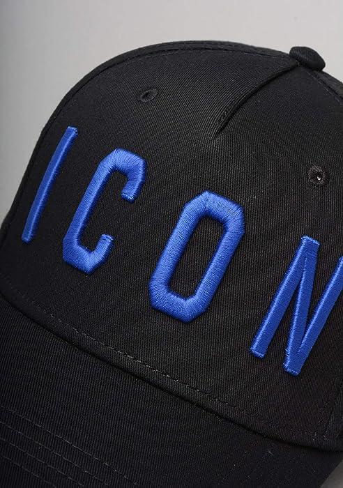 f7697c8de DSquared BCM4001 ICON Baseball Cap in Black and Blue: Amazon.co.uk ...