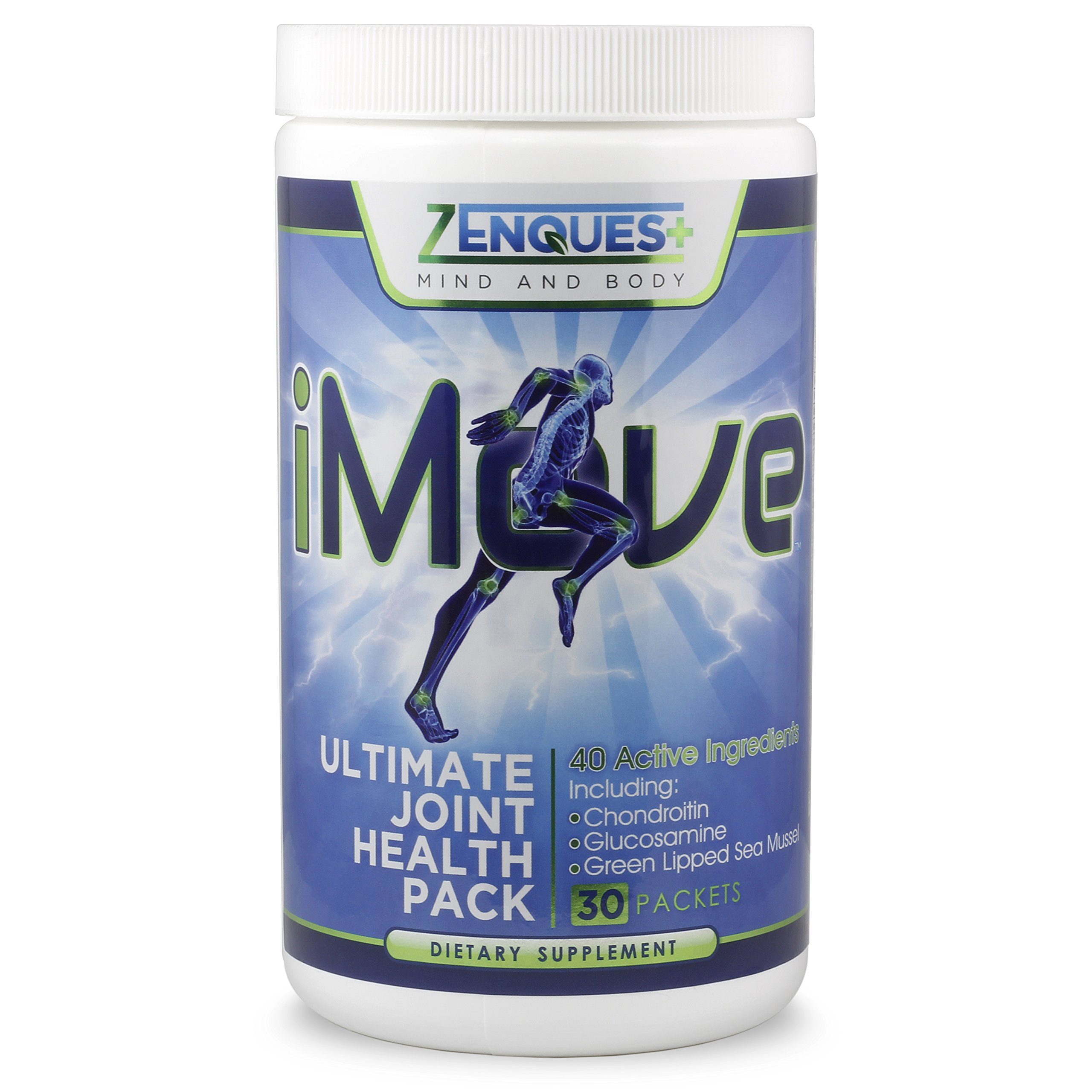 iMove Ultimate Joint Health Supplements- Glucosamine Chondroitin, MSM 1900mg, Turmeric, Boswellia, Hyaluronic Acid, Anti-Inflammatory, Antioxidant, Arthritis Relief for Your Back, Knees, Hands & More