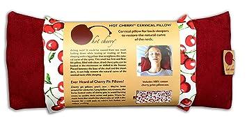 Amazon.com: Cervical Cuello caliente Cherry Pit almohada ...