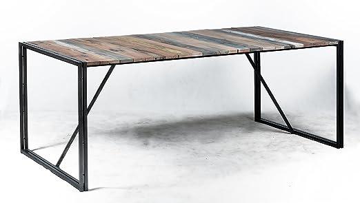 Mesa Diner Sistema Desmontable 200 x 100 x 78 Estilo Industrial de ...