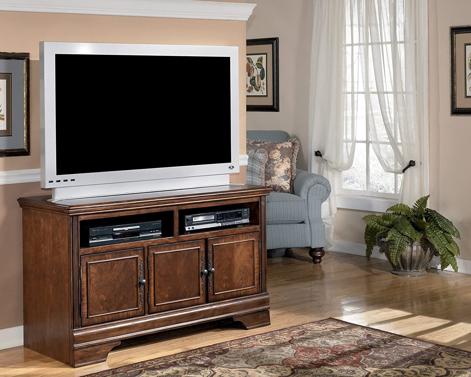Wonderful Amazon.com: Dark Brown Medium TV Stand   Signature Design By Ashley  Furniture: Kitchen U0026 Dining