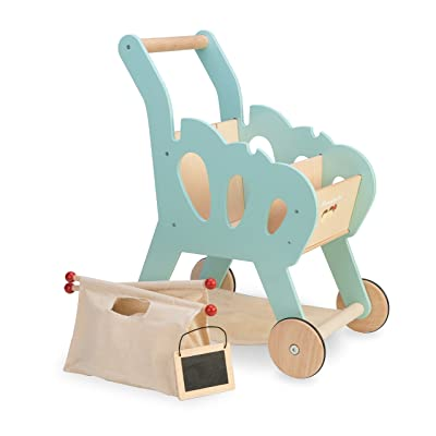 Le Toy Van Honeybake Collection Shopping Trolley with Bag Premium Wooden Toys for Kids Ages 3 Years & Up: Toys & Games