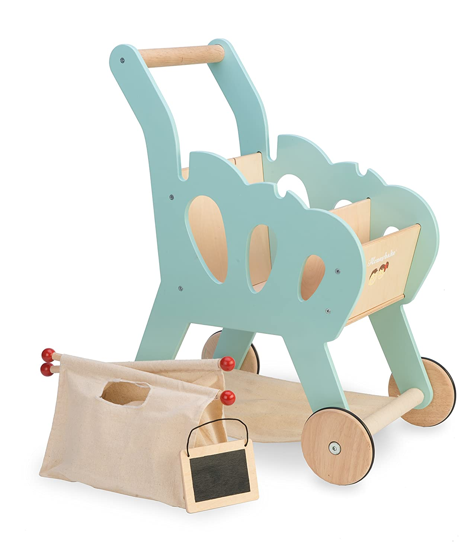 Kinder Einkaufswagen Holz - Le Toy Van Einkaufstrolley Honeybake