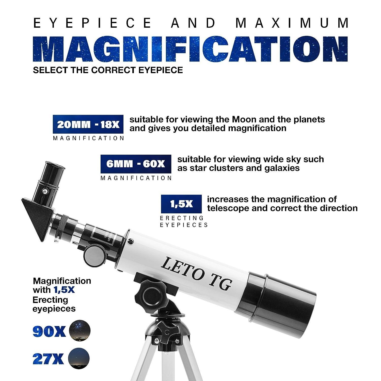/Educativo Ciencia telescopio para ni/ños con Single-Tube port/átil astron/ómico Paisaje de Objetivo y tr/ípode/ /Ideal para astronom/ía para Principi f36050/m telescopio para ni/ños/