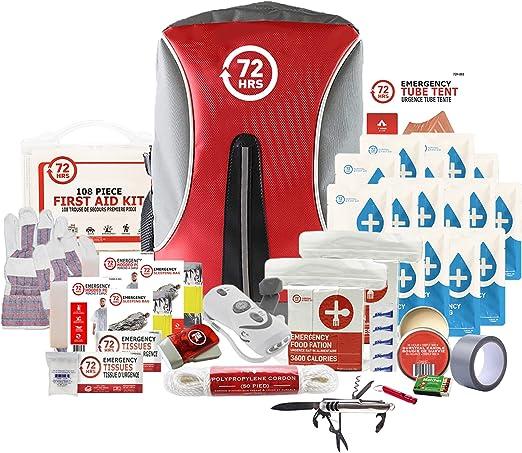 Kit de preparación para terremotos, kit de emergencia, kit de supervivencia para 2 personas – 72HRS Mochila Deluxe Kit por 72 horas: Amazon.es: Bricolaje y herramientas