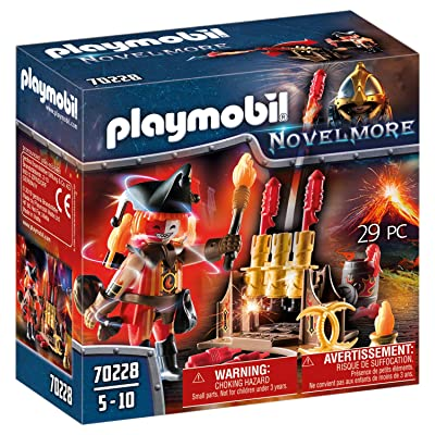 PLAYMOBIL 70228 Novelmore Knights Burnham Raiders Fire Master with Rocket Launcher: Toys & Games