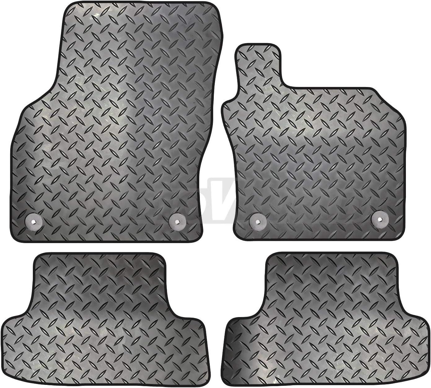 Kia Sportage dal 2010 al 2016 Carsio ZCUT-2223- 40 x 3 3 clip rotonde per adattarsi nero set di tappetini per auto in gomma