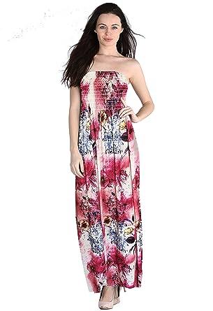 66 Fashion District Damen Bandeau Kleid 34-52 Gr. 34, Aztec Print