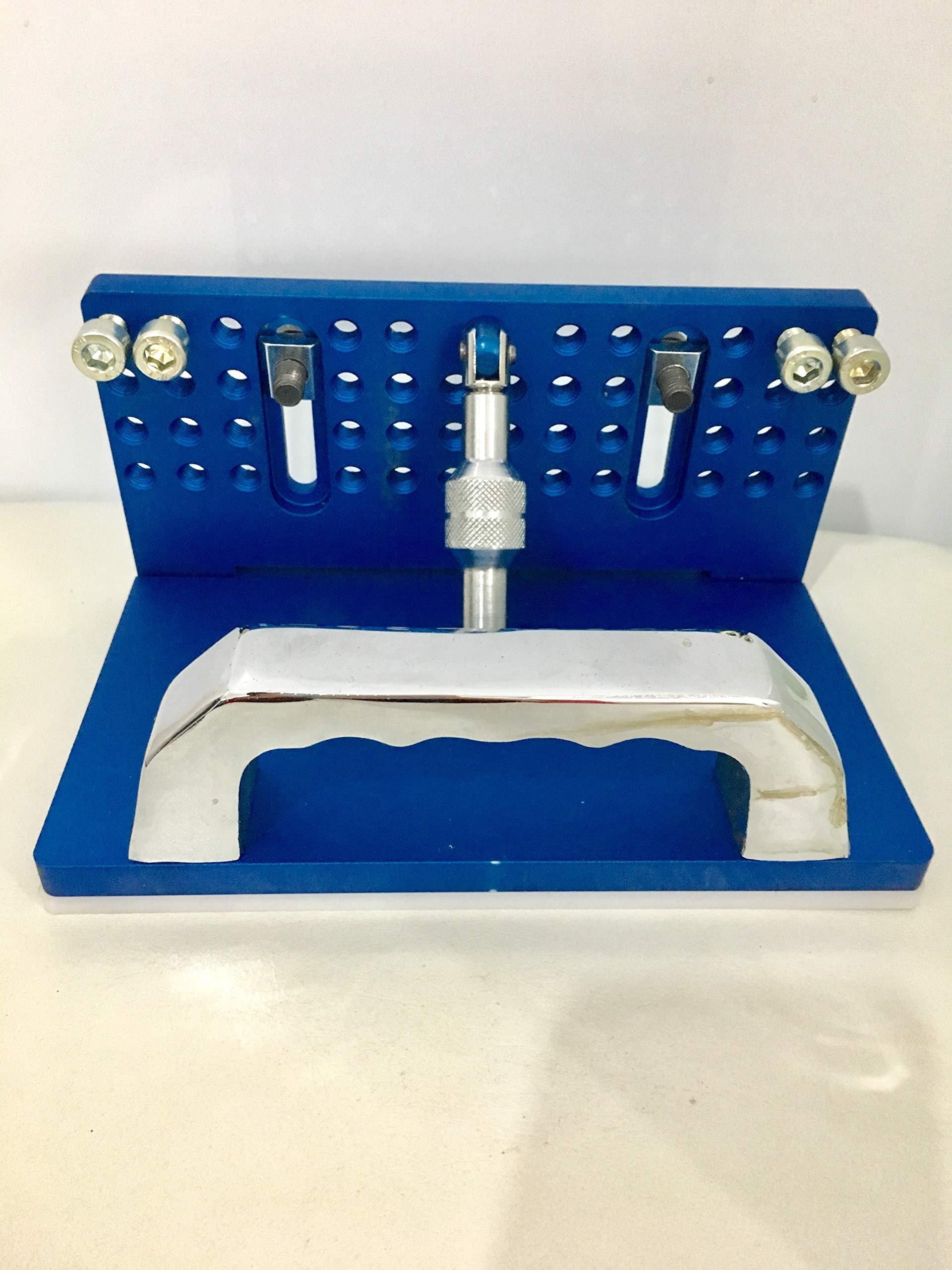 TR Maker Belt Grinder Professional Knife Jig, Knife Sharpener (Blue)
