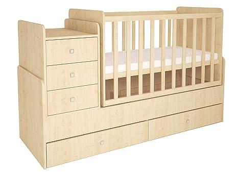 Polini Kids Cama infantil, para bebé, niños, 1100 con cómoda ...