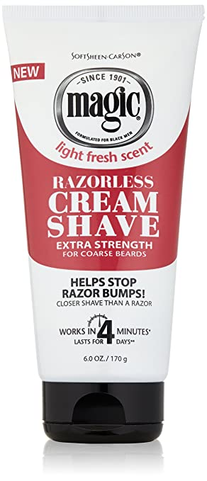 SoftSheen-Carson Magic Razorless Cream Shave - Extra Strength for Coarse  Beards, 6 oz