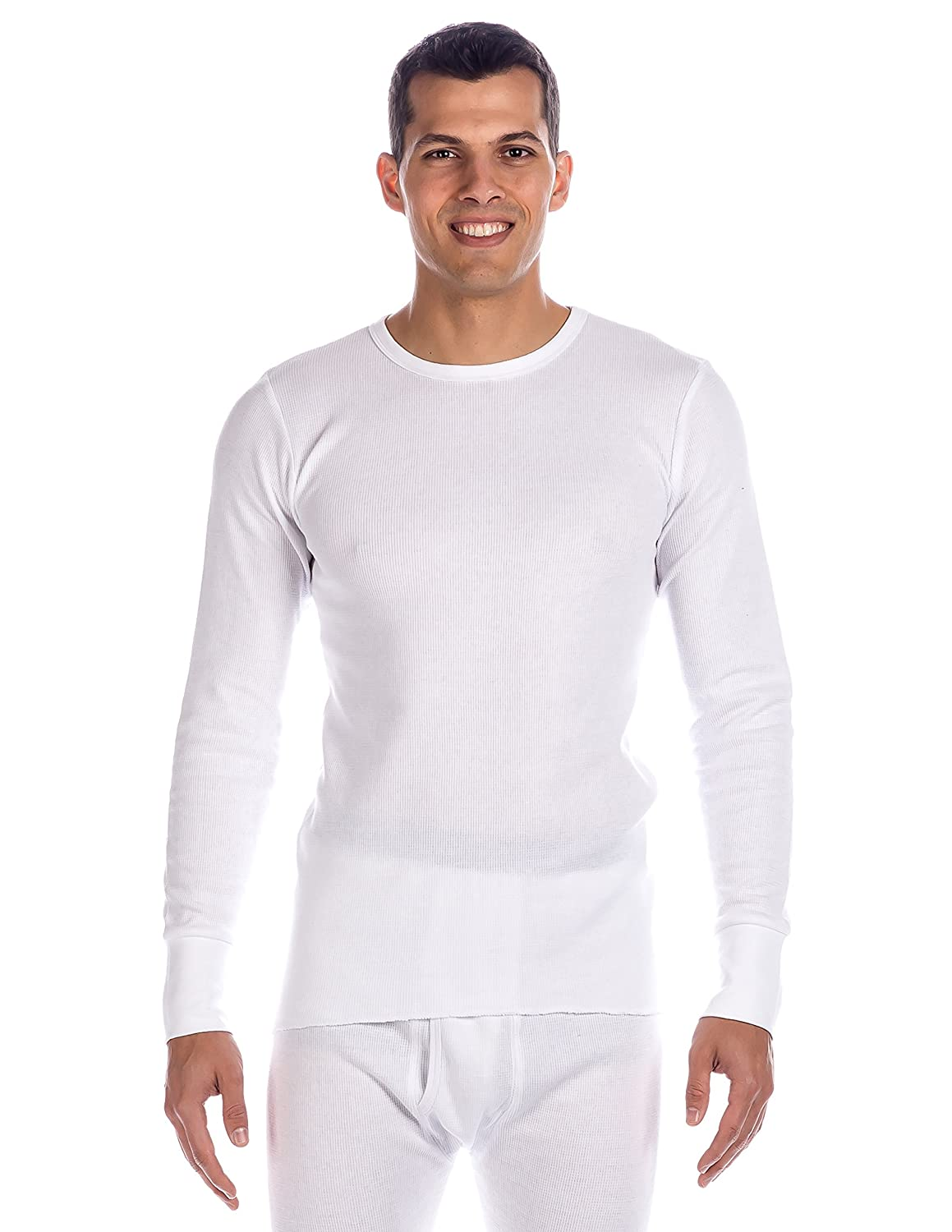 Noble Mount Men's Extreme Cold Waffle Knit Thermal Crew Top nmt_mn_thTop_wfl_xtreme_DBL_M