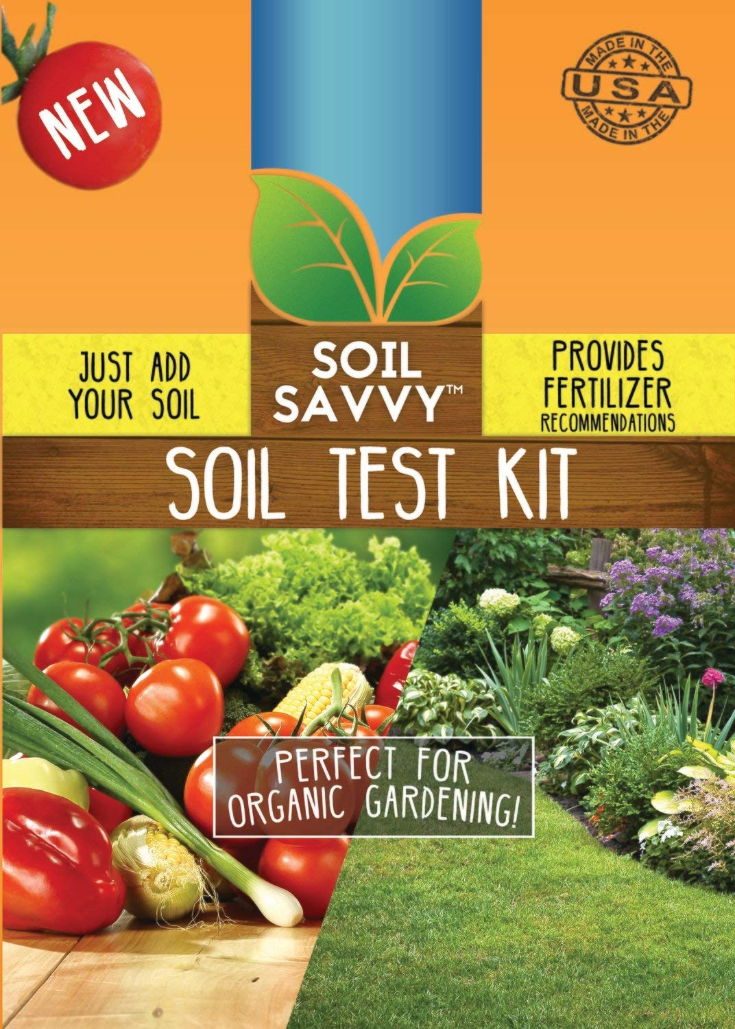 Soil Savvy - Soil Test Kit | Understand What Your Lawn or Garden Soil Needs, Not Sure What Fertilizer to Apply | Analysis Provides Complete Nutrient Analysis & Fertilizer Recommendation On Report by Soil Savvy
