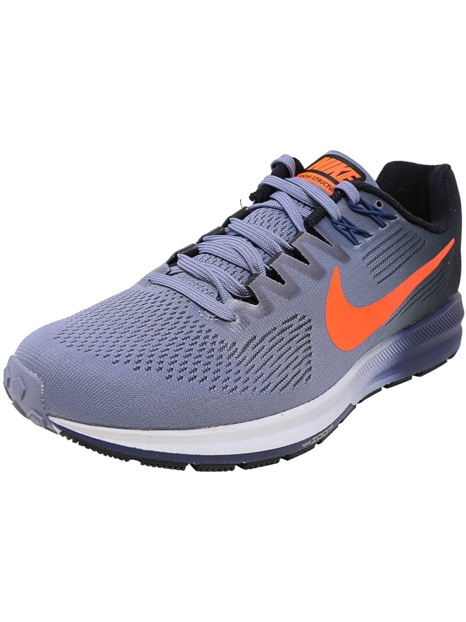 216899cea777 Galleon - Nike Men's Air Zoom Structure 21 Running Shoe Dark Sky Blue/Total  Crimson-Black-Navy 10.5