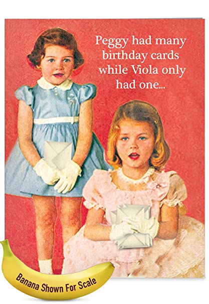Amazon J2182bdg Jumbo Funny Birthday Card Peggy Is A Whre