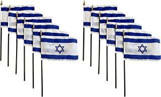 product image for Set of 12 4x6 E-Gloss Stick Flag Israel - Flag Only - Made in The USA