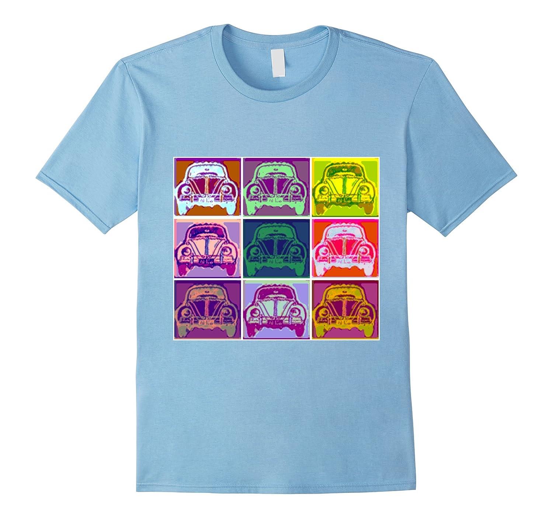 Retro Vintage 1960s Sixties Bug Car Pop Art T-shirt-Art