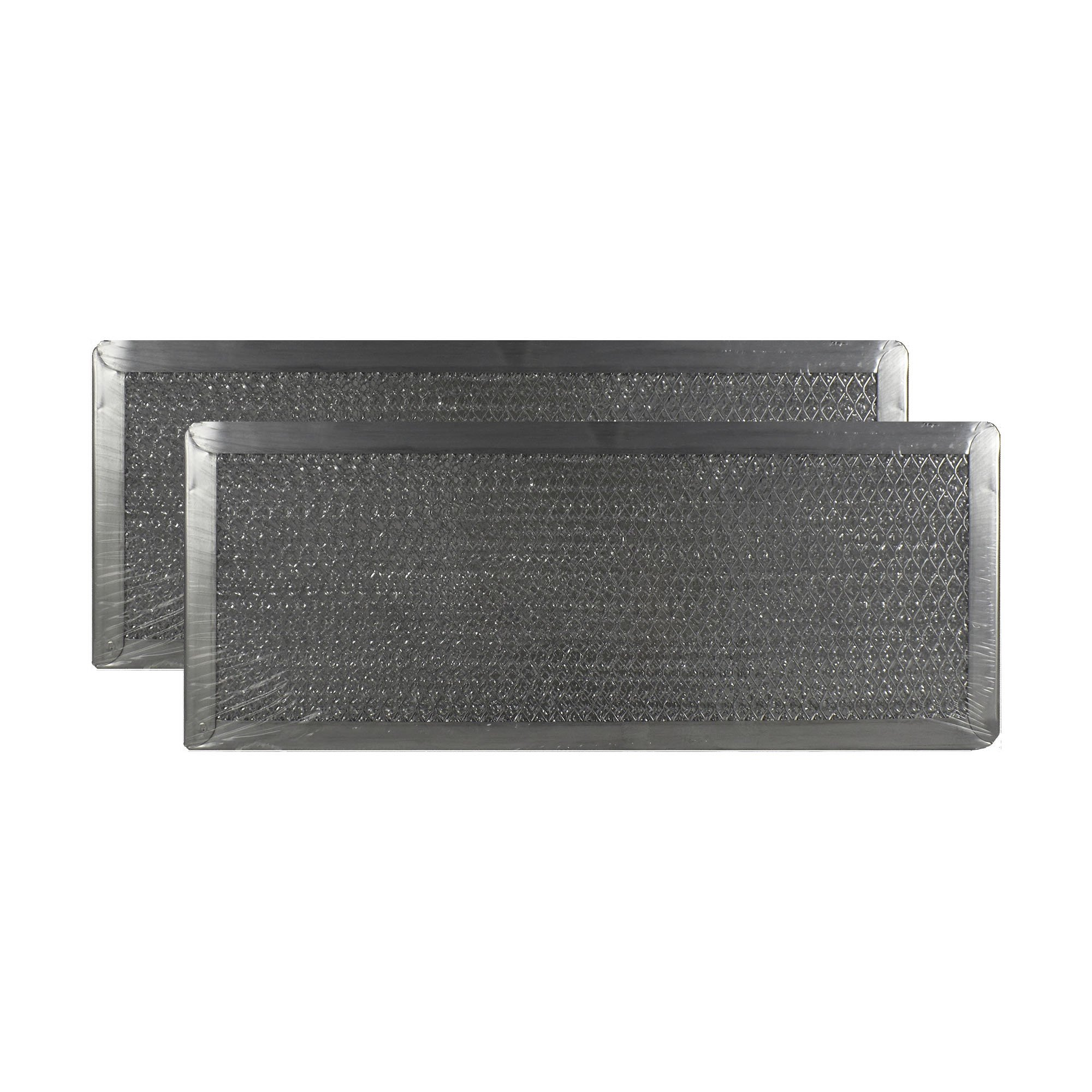 2 PACK Air Filter Factory 5'' X 12-1/2'' X 3/32'' Range Hood Aluminum Grease Filters AFF97-M