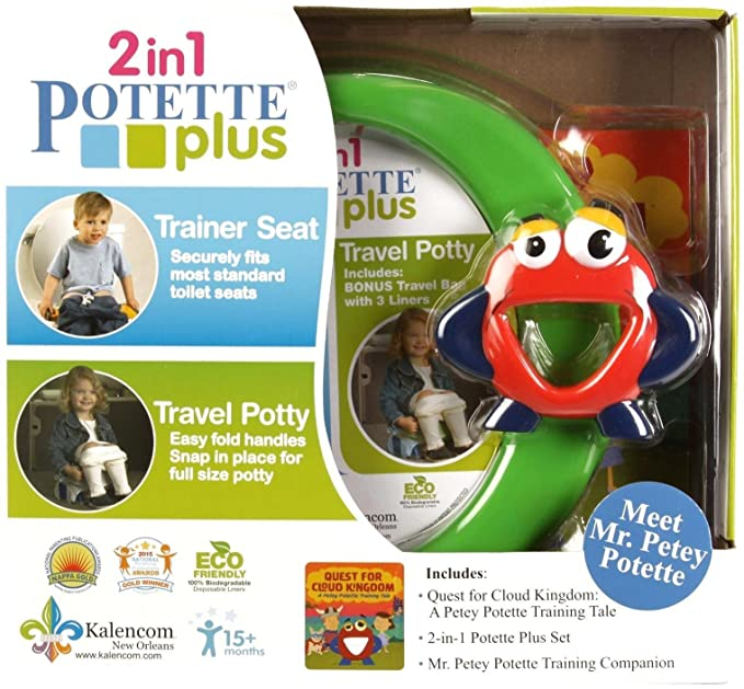 Kalencom Mr. Petey Potette Potty Training Kit, Green by Potette: Amazon.es: Bebé